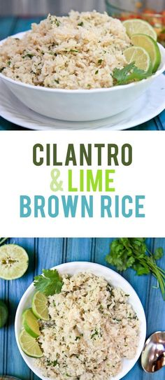 Cilantro Lime Brown Rice - easy swap with coconut oil to make this one dairy-free! Recipe via @backtoherroots