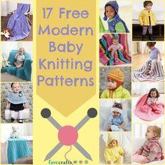 17 Free Modern Baby Knitting Patterns