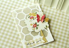 Thank You Card by Danielle Flanders for Papertrey Ink (July 2012)