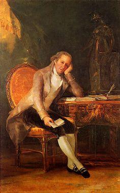 BIBJovellanos. Retrato realizado por Goya del autor de la Sátira a Arnesto, que refleja las malas costumbres de las mujeres y la nobleza. http://perso.wanadoo.es/luisalas/gmjsa01.htm
