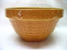 Pumpkin Colored Vintage Yellow Ware Bowl