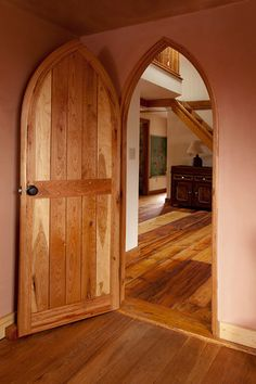 Gothic Revival Style | cherry Gothic interior door | Bayer Built Woodworks & gothic glass door | ... door unit - frosted obscured glass ... Pezcame.Com