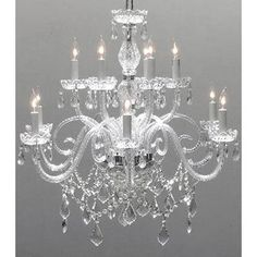 Shop Chandelier Lighting Crystal Chandelier H27 x W32 - On Sale - Free Shipping Today - Overstock - 11735105