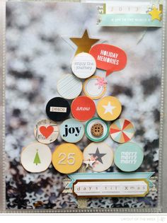 gorgeous December Daily page for our Layout of the Week this week @Studio_Calico