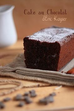 Cake au chocolat d'Eric Kayser