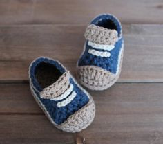 Crochet Pattern for Boys Booties Crete Sneaker by Inventorium, $5.60