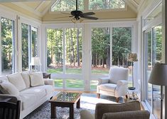 All Season Porch, Four Season Sunroom, Three Season Room, Sunroom Office, Sunroom Addition, Family Room Addition, Sunroom Windows, Sunroom Decorating, Sunroom Ideas