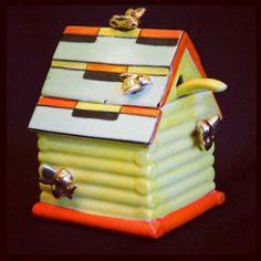 Bees + orange + art deco + made in Japan = mine!   blastmilk   Flickr