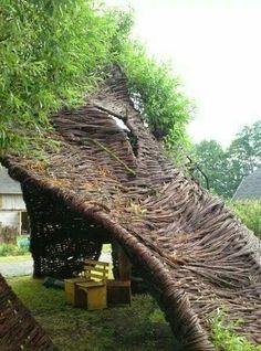 #Willow #Weaving #Art #Installation #Branch #Sculpture