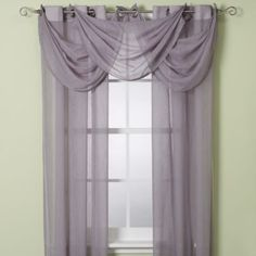 Would like something like this for the living room, maybe bedroom too. Anya Crushed Voile Window Sheer with Grommets - BedBathandBeyond.com