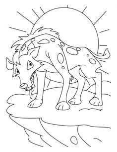 Free Animals Jackal Printable Coloring Pages For Preschool