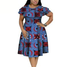 African Dresses Plus Size, Short African Dresses, African Fashion Designers, Latest African Fashion Dresses, African Print Dresses, African Print Fashion, Short Sleeve Dresses, African Fashion Traditional, African Print Dress Designs