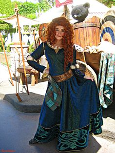 , you made a better Merida! and your hair is real! Princess Merida's Dress by Aurotiana Merida Disney, Disney Day, Disney Love, Disney Parks, Brave Disney, Disney Stuff, Walt Disney, Merida Dress, Merida Costume