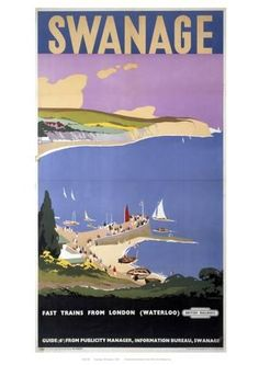 Giclee Print: Swanage Wall Art : 12x8in