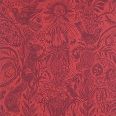 Mark Heard's Squirrel and Sunflower wallpaper, form his original linocut http://www.stjudesfabrics.co.uk/collections/mark-hearld/products/squirrel-and-sunflower