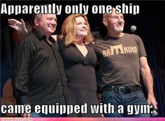 William Shatner, Kate Mulgrew, Patrick Stewart. (i have an inappropriate cruch on patrick stewart, now you know why)