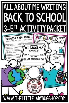 This Back to School Activities Packet is perfect for your students in Second Grade, Third, Fourth Grade & More! This is a great to use as your students start back to school! The first few days of school are so hectic, why not make your time valuable and manageable! Perfect for setting goals, bulletin boards, growth mindset. #backtoschoolactivities #goalsettingforkids