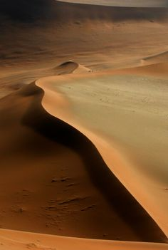 Sand dunes in Namibia
