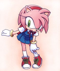 I want more pictures of Amy in a school girl outfit. She's adorable.