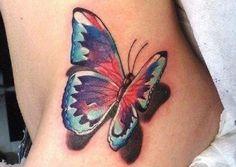3D butterfly tattoo 55 - 65 3D butterfly tattoos  <3 <3