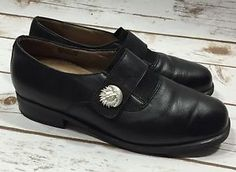 Ara Fitness Womens Black Leather Celestial Loafers Shoes UK size 6 / US size 8