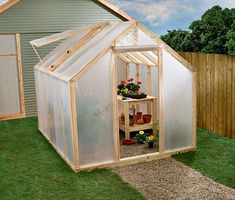 If you're looking for simple DIY greenhouse ideas or plans to build one in your garden, read this! PDFs and Videos are included. (Run In Shed Plans) Diy Greenhouse Plans, Greenhouse Farming, Greenhouse Supplies, Outdoor Greenhouse, Build A Greenhouse, Greenhouse Wedding, Cheap Greenhouse, Miniature Greenhouse, Greenhouse Plants