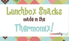 This Week's Thermomix Meal Plan – Jan 27-Feb 2, 2014 | One Crafty Mum