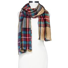 Oversized Plaid Scarf - Multicolored . This is so adorable that I'll take two !