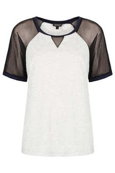 INSPIRATION: Mesh inserts Mesh Insert T-Shirt - Jersey Tops  - Clothing