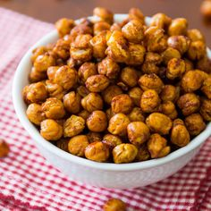 Cinnamon Sugar Crunchy Roasted Chickpeas - This is the first time I tried Chickpeas...These are incredibly delicious! So much better when you remove the outer skin. A Great Snack!