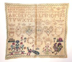 Dutch (Amsterdam) sampler worked by IVS in 1792
