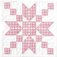 "Stamped White Quilt Blocks ~ 18"" square block.  Simple, yet elegant."