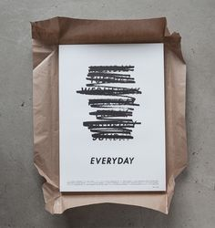 Visual identity and poster design for Gustav Johansson's short film 'EVERYDAY'.