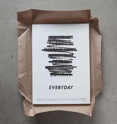 Visual identity and poster design for Gustav Johansson's short film 'EVERYDAY'.