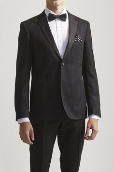 Slim Worsted Patch Pkt Tuxedo Jacket - EDGE by WD.NY - Blazers & Vests : JackThreads