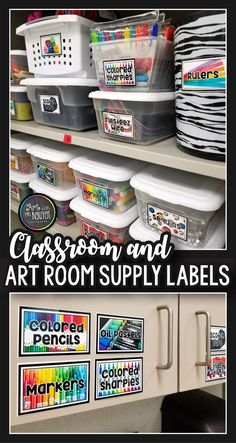 Classroom and Art Room Supply Labels are a perfect tool to help you organize your classroom before you leave for summer break!