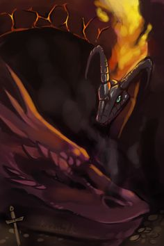 """kaenith: """"Do you love the colors of the sky dragons? From top to bottom: Spyro, Temeraire, Terezi's Dragonmom, Haku, Toothless, Flygon, Draycos, a Maraquan Draik, Volvagia, and Smaug. """""""