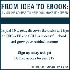From Idea to eBook Online Course (and coupon code!)