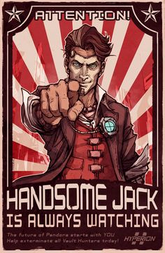 I hate you, Handsome Jack. I was so glad when I shot you in the head. #spoilers #borderlands