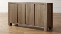 I love this - goes with the other dining table i love - 65x18 but would have to figure out coffee table! Big Sur Smoke Sideboard | Crate and Barrel