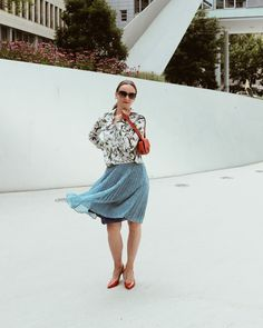 Mustermix -> Oceanblue Style at Manderley Waist Skirt, High Waisted Skirt, Trends, Your Style, Skirts, Flowers, Pattern, Outfits, Fashion