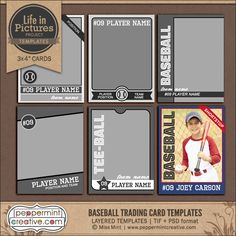 Baseball Card Template. Perfect for trading cards for your team ...