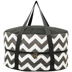 Monogrammed Chevron Crockpot tote perfect by DesignsbyApril1234