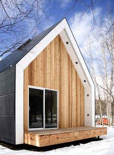 Small Modern Farmhouse Cabin in Alberta, Canada with Cedar Facade, Remodelista