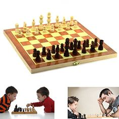 Dazzling Toys Wooden Chess Board Game Family Folding Board Portable Travel Game * See this great product. Note:It is Affiliate Link to Amazon.