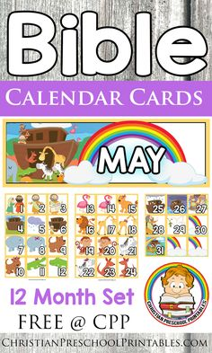 Free Bible Calendar Printables. Thematic Bible Printables for every month of the year! Colorful Bible printables and themes to decorate you Sunday School Classroom. Learn the Months and days of the year. http://thecraftyclassroom.com/2016/02/07/free-bible-calendar-printables/?utm_campaign=coschedule&utm_source=pinterest&utm_medium=Valerie&utm_content=Free%20Bible%20Calendar%20Printables