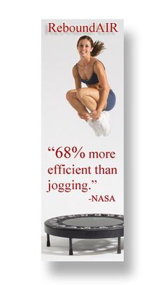 """more efficient than jogging on a treadmill"""" -NASA. While I do not intend to [ever] give up running, I have been reading up on rebounding and think it might have some unique benefits to offer as well as be an excellent cross-training method. Trampoline Workout, Backyard Trampoline, Urban Rebounder, Excercise, Rebounding Exercise, Health Trends, Workout Videos, Workouts, Exercises"""