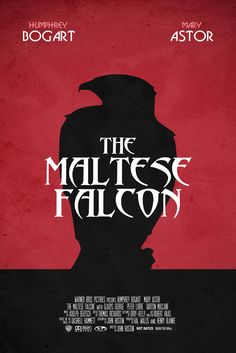 The Maltese Falcon by Andrew Millen. Minimal Movie Posters. Haven't seen the movie, but read the book. It was pretty interesting.