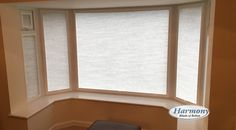 These soft, elegant Perfect Fit Pleated Blinds look effortlessly stylish in this Bay Window. The blinds easily clip into any uPVC window frame for a perfec. Perfect Fit Blinds, Bay Window, Windows, Fitness, Ramen, Window