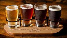 3 of the Best Beer Tastings in Leeds Beer Sampler, Serveware, Tableware, Tequila Bottles, Beer Tasting, Tap Room, Wood Tray, Best Beer, Brewery